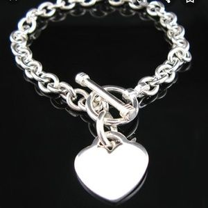 Jewelry - 🆕️ Silver Heart Toggle Bracelet NEW in Packaging